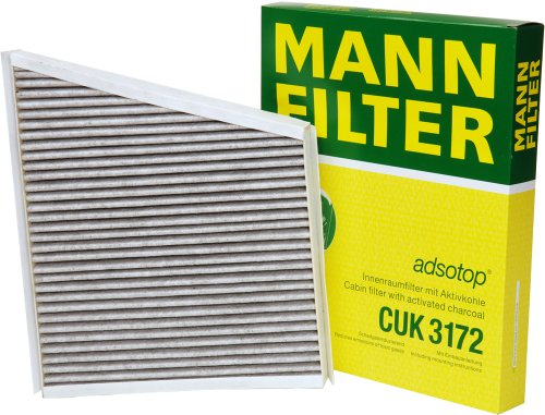 Mann-Filter CUK 3172 Cabin Filter With Activated Charcoal for select  Mercedes-Benz models