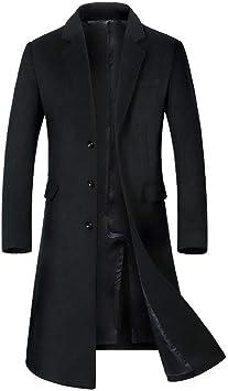 メンズロングウールコート厚手のトレンチファッションウールオーバーコートウィンタービジネスカジュアルジャケット