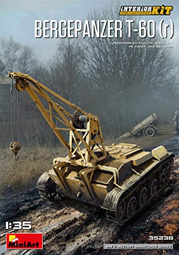 MiniArt 35238 Bergepanzer T-60 (R) Interior Kit, WWII Military Miniatures 1/35 Scale Model ()