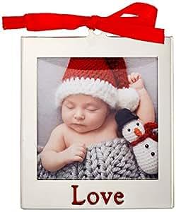 Lenox Love Frame Charm Ornament