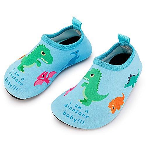 Bigib Toddler Kids Swim Water Shoes Quick Dry Non-Slip Water Skin Barefoot Sports Shoes Aqua Socks for Boys Girls Size 8.5-10 M US Toddler