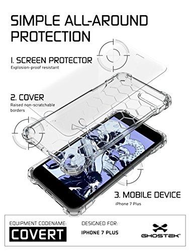 """Ghostek GHOCAS457 Schutzhülle """"Covert Series"""" für Apple iPhone 7 Plus klar"""