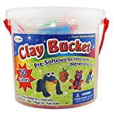 ArtSkills Non-Drying Clay Bucket, Arts and Crafts Supplies, Clay Art Set, 10 Project Ideas, 50 Sticks of Pre-Softened Modeling Clay, 100 Pieces Total (AMYS-131)
