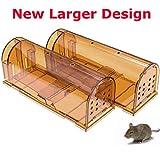 CaptSure Original Humane Mouse Traps, Easy to Set, Kids/Pets Safe,...