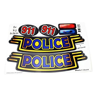 The Toy Restore Black & Gold Police Door Logos and 911 and Light Decals Fits Little Tikes Cozy Coupe: Toys & Games