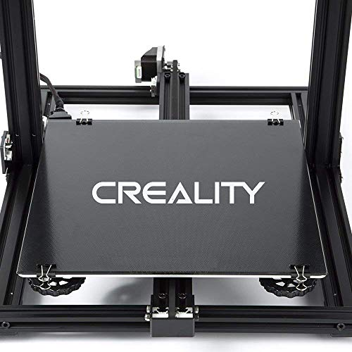 (Creality 3D Printer Platform Heated Bed Build Surface Tempered Glass Plate for Ender 3/Ender 3 Pro 3D Printer)