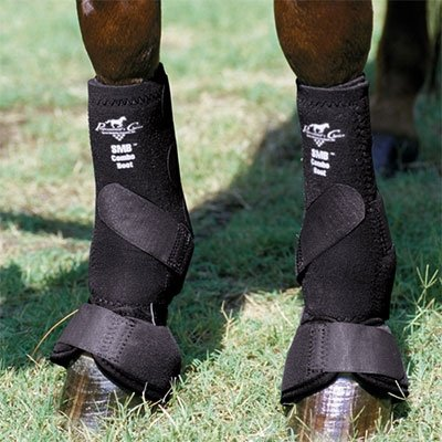 Professionals Choice Equine Smb Combo Front Boot, Pair (Medium, Black) by Professional's Choice (Image #1)