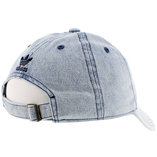 adidas Womens Originals Relaxed Fit Strapback, Washed Blue Denim, One Size