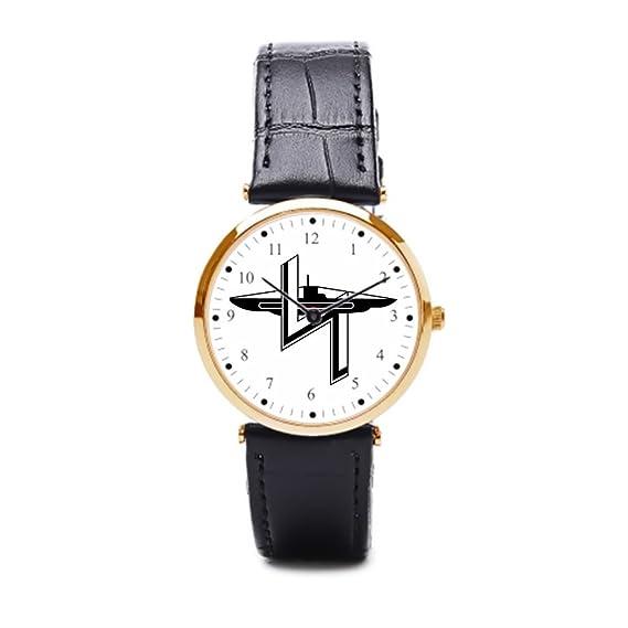 hiyane piel relojes para hombre alemán azul marino U barco Sport reloj de pulsera