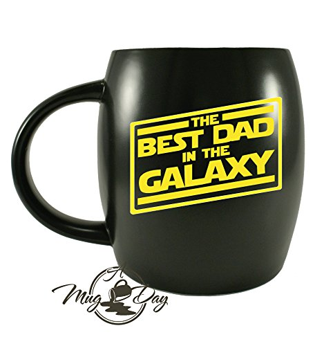 Father's Day Gifts for Best Dad In The Galaxy Novelty Drinkware Cups - For World's Greatest Papa Ever, New Father, Husband Ceramic Coffee Mug Tea Cup - For Sports Fan, (Galaxy Travel Mug)