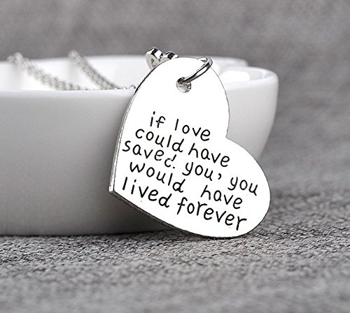 If Love Could Have Saved You Necklace Memorial Tag Heart Paw Rescued Dog Glazed Black Cherry Memorial Charm pet Loss cat Lovers Pendant You Would Have Lived Forever