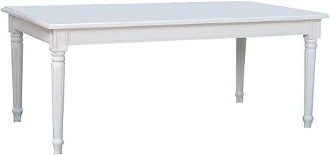 Amazon De Dynamic24 Amaretta Esstisch Esszimmertisch Tisch Erweiterbar Landhaus Weiss Antik Patiniert