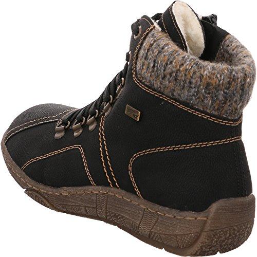 Pour bootie Bottes Ankle Remonte Femme Noir qAHFOx