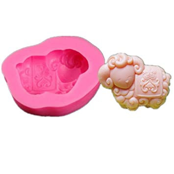 VALINK Silicone Fondant Cake Molds, 3D Goat Animal Shaped Silicone Chocolate Mould Candle Moulds Soap
