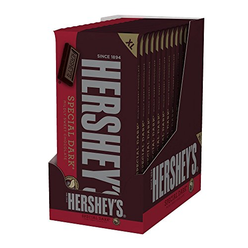 HERSHEY'S Special Dark Chocolate Candy Bars, Extra Large (Pack of 12) (Dark Chocolate Bars)