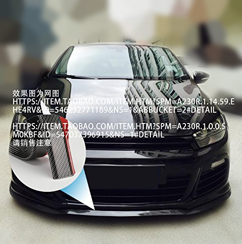 8,2 ft 2,5 M FAI DA TE Parapetto batticalcagno Guardia anti-collisione Paraurti Paraurti Spoiler del paraurti anteriore universale