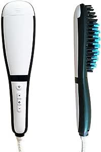 Cepillo alisador con vaporizador integrado con iones activos y pantalla LCD - El cepillo eléctrico es la combinación perfecta entre cepillo iónico y plancha de pelo para obtener un cabello liso y