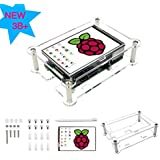 for Raspberry Pi 3 B+ Touchscreen Monitor 3.5 inch TFT LCD Display with Protective Case, Heat Sinks, Touch Pen, 480x320 Pixels