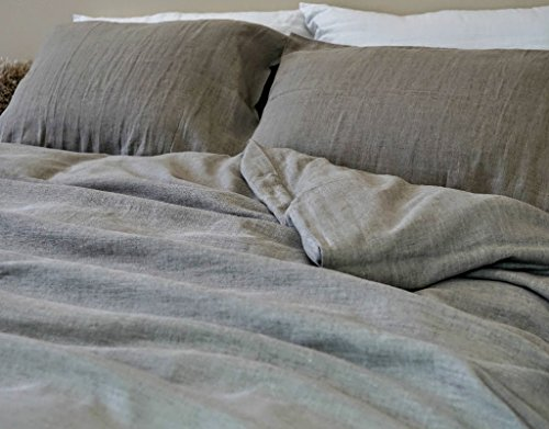 Dark Linen Duvet Cover Handmade in Medium Weight Linen, Natural Linen Duvet Cover, Natural Linen Bedding, Linen Bedding, Queen Duvet Cover, King Duvet Cover, Twin Duvet Cover, FREE SHIPPING by SuperiorCustomLinens