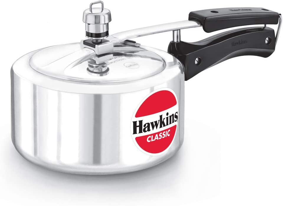 HAWKINS Classic CL20 2-Liter New Improved Aluminum Pressure Cooker, Small, Silver