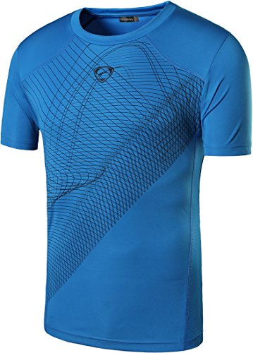 Sleeve Sport Tee Dry Short - Sportides Big Boy's Quick Dry Active Sport Short Sleeve Breathable Tshirts T-Shirts Tees Tops LBS703 Blue M