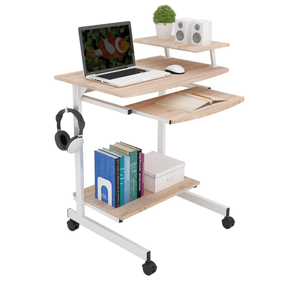 CL-@ Computer Desk Desktop - Office Desk Home Use Mobile Notebook Space-saving Minimalist Desk 70cm Small Writing Desk Environmental Protection Optional Color SY (color : BLACK)