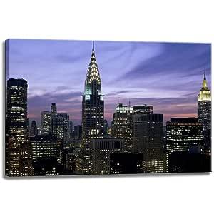 Horizonte de Nueva York, tamaño: 80x60 cm, la imagen