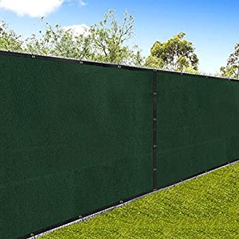 Amagabeli Fence Privacy Screen 8x50 For Chain Link Fence Fabric Screening  With Brass Grommets Outdoor 8ft