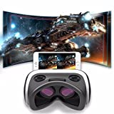 3D VR Headset, SIDARDOE 3D VR Glasses, Virtual Reality Headset with Android Bluetooth Remote Controller, 5th Generation Virtual Reality Glasses Box