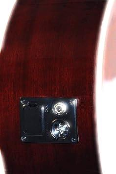 Amazon.com: 12 String Acoustic Electric Burgundy Cutaway Jumbo ...