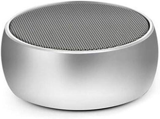 DGYAN El Estilo inalámbrico al Aire Libre portátil del Metal del Altavoz de Bluetooth Mini llevó el Altavoz Redondo de Bluetooth del ajedrez del Roble: Amazon.es: Jardín