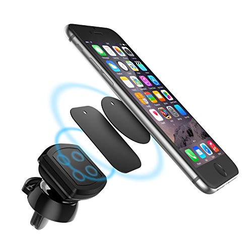 Car Phone Mount Holder HTC Universal Smartphone Magnetic Car Vent Mount With 2 Metal Plates For Cell Phones and GPS Devices,iPhone 8//8Plus//7//7Plus//6s//6P//5S Silver Google Galaxy S5//S6//S7//S8 LG