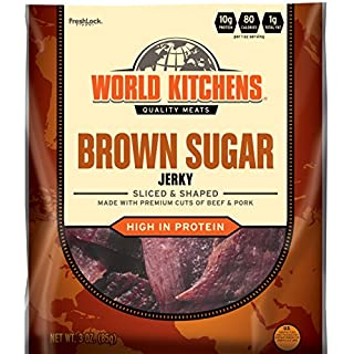 World Kitchens Jerky, Brown Sugar, 3 Ounce