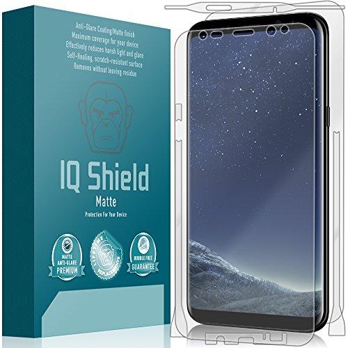 Galaxy S8 Plus Screen Protector, IQ Shield Matte Full Coverage Anti-Glare Screen Protector + Full Body Skin for Galaxy S8 Plus (S8+) Bubble-Free Film