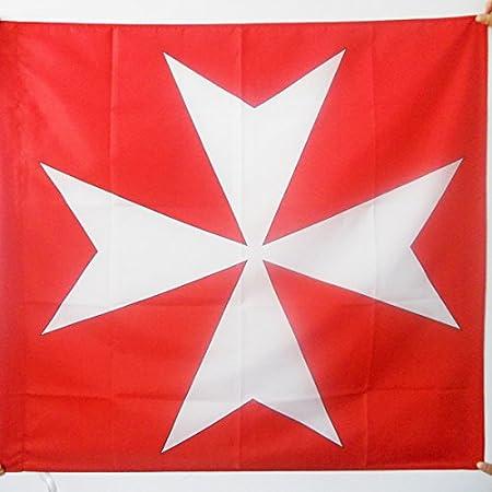 AZ FLAG Bandera de la Cruz Orden DE Malta 90x90cm para Palo ...