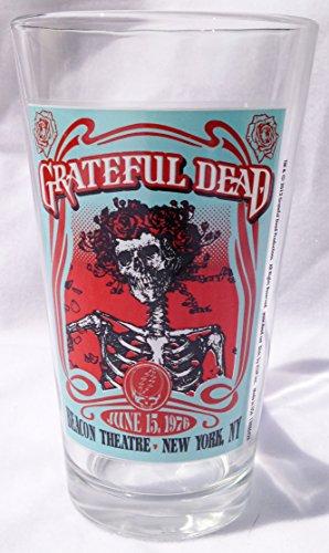 Grateful Dead Pint Glass - 1976 Concert Beacon Theatre New York City (5-3/4