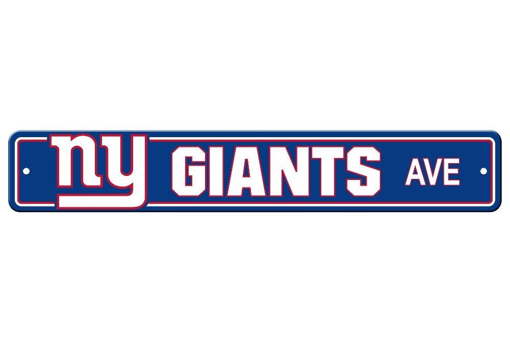 Fremont Die NFL New York Giants Plastic Street Sign