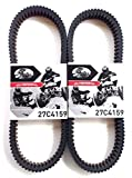 Polaris RZR XP 1000 Belt 2015-2017 Gates CVT Carbon Drive Belt 27C4159 - 2 Pack