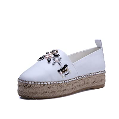 AdeeSu Womens No-Closure Pointed-Toe Patent Leather Patent-Leather Loafers Shoes SDC03867