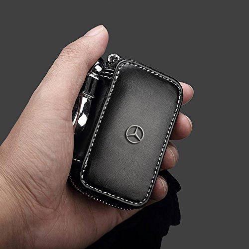 clave del coche titular de la caja monedero de la carpeta monedero de llavero Mercedes-Benz Logo