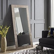 "Naomi Home Mosaic Style Mirror Silver/65.5"" x 31.5"""