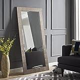 Naomi Home Mosaic Style Mirror Silver/61