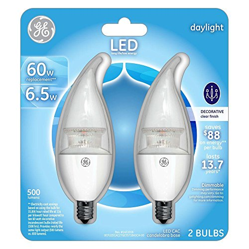 GE Equivalent Daylight Candelabra Lightbulb