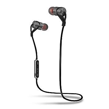 Zhuhaimei,Sport Bluetooth Auricular con Mic Sweatproof Gym Auriculares inalámbricos Auriculares Bajos para iPhone Samsung