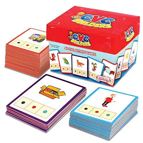 (Junior Learning CVC Word Builders Activity Cards)