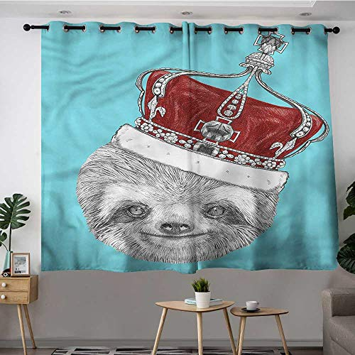 Metallic Lace Imperial Crown - Fbdace Sloth Grommet Curtains Sloth with