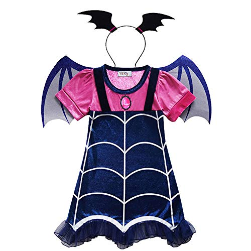 Kids Vampire Suit Role Play Fancy Dress Up Cosplay Party Halloween Costume -