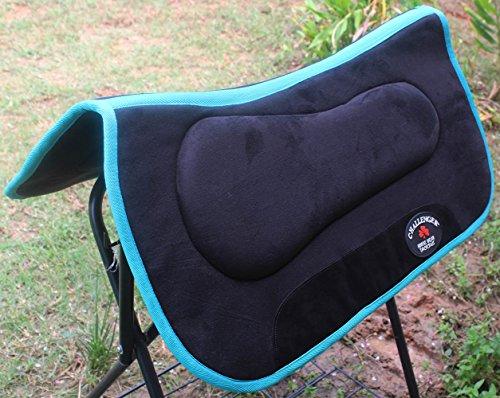 horse-western-barrel-saddle-pad-memory-foam-anitislip-bottom-tack-black-3983tl