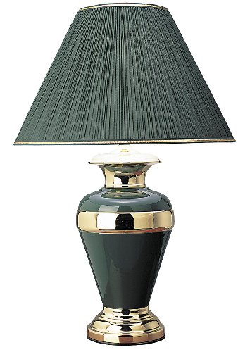 ORE International 6129GN 32-Inch Metal Lamp, Hunter Green (Hunter Table Lamp Green)