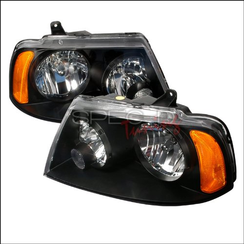 Spec-D Tuning Lincoln Navigator 2003 2004 2005 Euro Headlights - Black ()